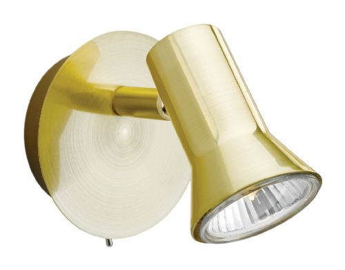 Firstlight 6090BB Brushed Brass Magnum Single Spot (Switched)